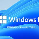 Windows11開発版をインストールしてみた